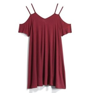 Jolie | burgandy strap dress • S
